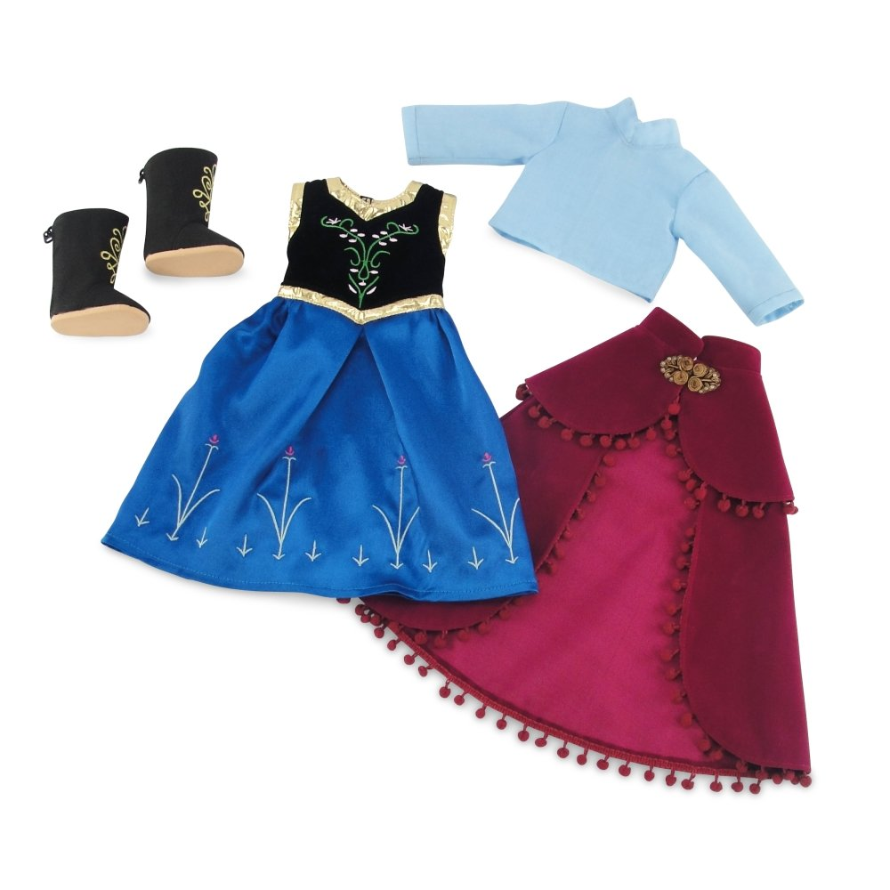 18 Inch Doll Clothes Outfit Costume Gown Emily Rose Doll Clothes Fits 18 American Girl Dolls Princess Anna Inspired Dress with Boots