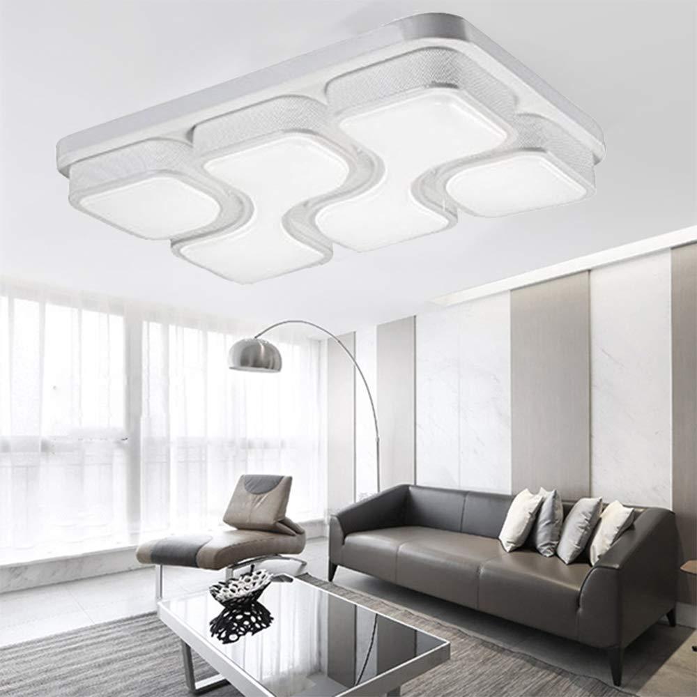 Style home LED Deckenlampe Deckenlampe Deckenlampe 54W Deckenleuchte voll dimmbar mit Fernbedienung Rechteckig 6908C (Weiß) aa1390
