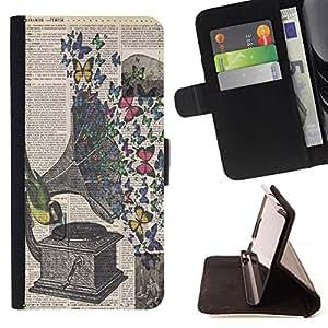 King Case - FOR LG G3 - Hear all parties - Prima caja de la PU billetera de cuero con ranuras para tarjetas, efectivo Compartimiento desmontable y correa para la mu?eca