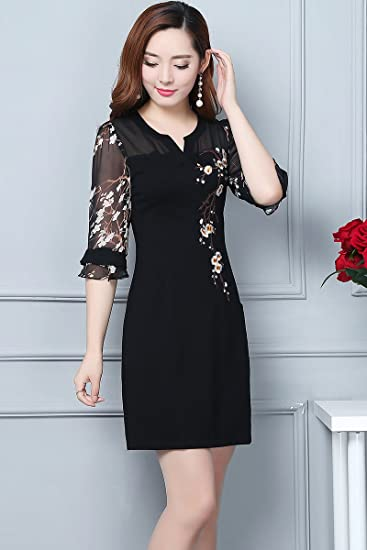 Amazon Mother Dress Autumn Long Section Sleeve 30 40 Years Old