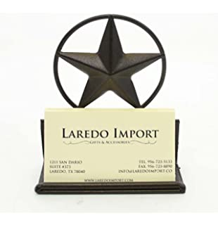 Amazon texas star office business card holder office products star iron business card holder colourmoves