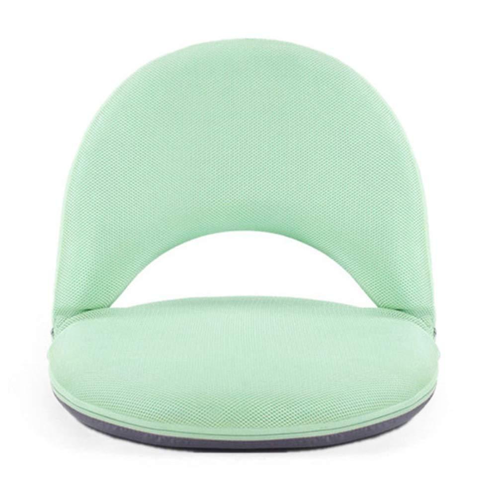 XIAOYAN Faltbare Bodensitze mit Rückenlehnen-Meditationsstuhl für das Lesen in Innenräumen. Gaming 5 Farben (Farbe   Grün) Grün