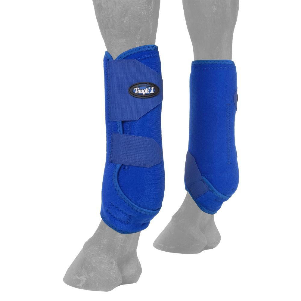 Tough-1 Vented Sport Boots Front Blue/Royal by Horse