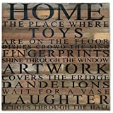 Reclaimed Wood Wall Art - Home. The place where toys