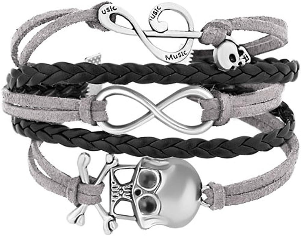 LilyJewelry Infinity Skull...