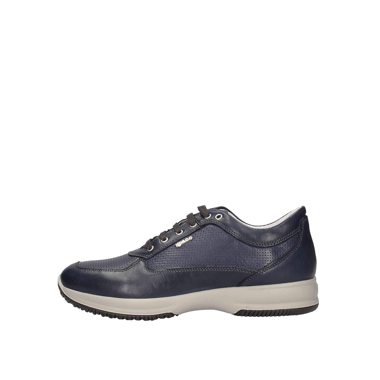 presa IGIECO scarpe da ginnastica Uomo Pelle Blu dgqt4979119
