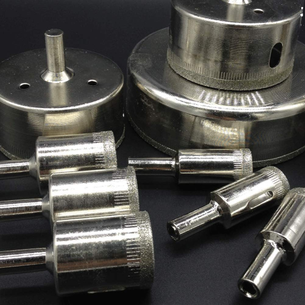 Tile Hole Saw, 15 PCS Diamond Drill Bits 6-50mm Glass Tile Hollow Core Extractor Remover Tools for Glass, Ceramics, Porcelain, Ceramic tile