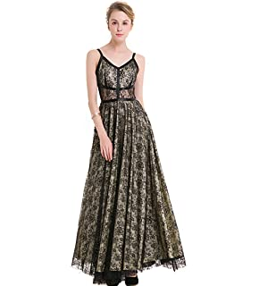KAXIDY Ladies Black Evening Dresses Gowns Wedding Holiday Maxi Dresses