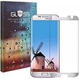 [Case Friendly] Galaxy S7 Edge Screen Protector,JRG Premium Curved Tempered Glass for Samsung Galaxy S7 Edge (Not Full Coverage),Silver Frame