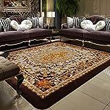 Striped rectangular carpet mat Living room European style Tea table Bedroom Bed Ground felt Household use [wedding] Simple Modern carpet-A 79x118inch(200x300cm)