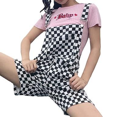 meilleur service 0b473 db207 Mxssi Femme Salopette d'été Femme Combi-Pantalon Ample en ...