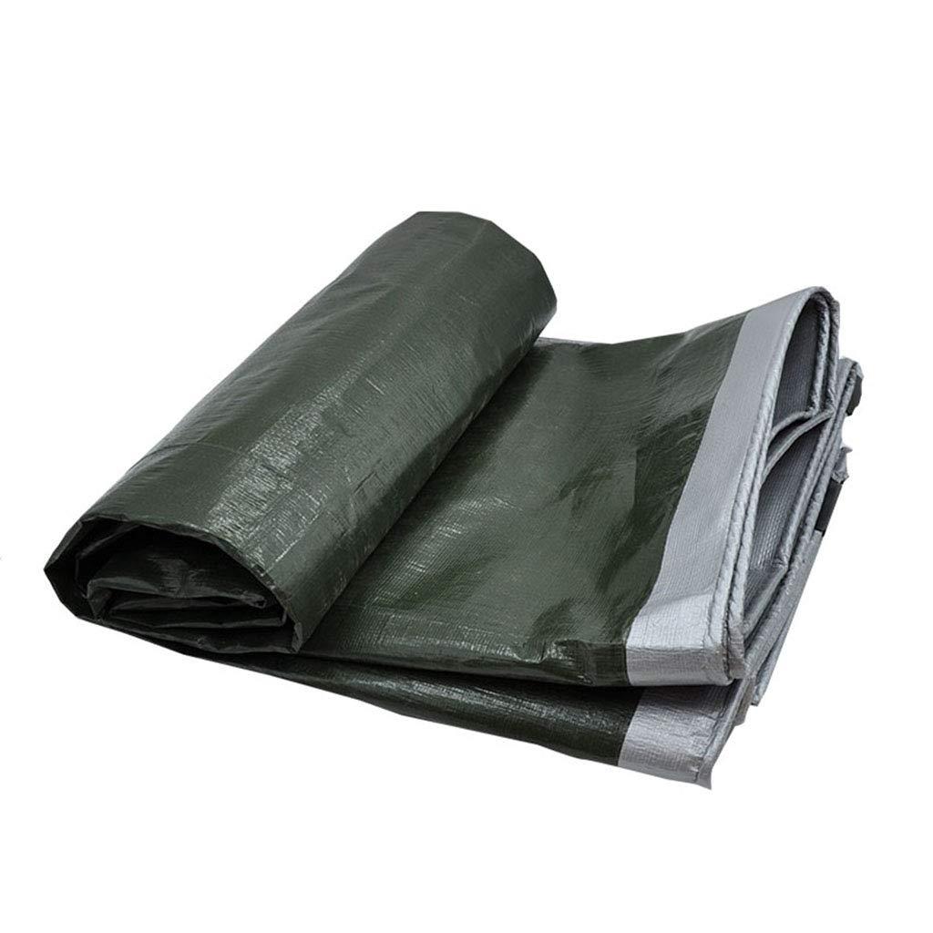 YX-Planen Starke Reversible Wasserdichte Plane 100% UV-geschützt - doppelseitig Grauer Sonnenschutzplanen-Bodenplane - Dicke 0,35 mm, 180 g m²