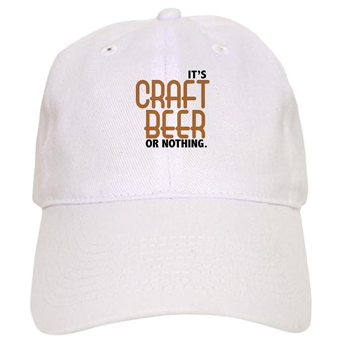 99a31221 Amazon.com: CafePress - Craft Beer Or Nothing - Baseball Cap with  Adjustable Closure, Unique Printed Baseball Hat Khaki: Clothing