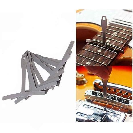 GFEU - Juego de 9 herramientas para guitarra (calibre de radio, acero inoxidable)