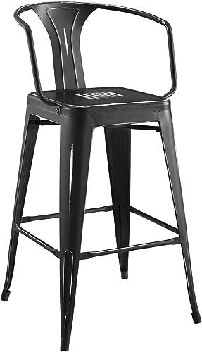 Best outdoor bar stool: Modway Promenade Industrial Modern Steel Bistro Bar Stool