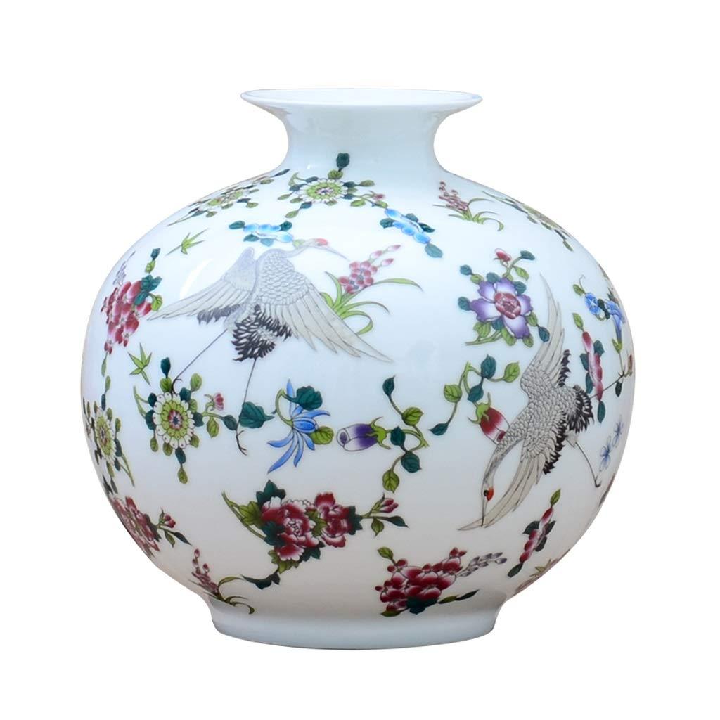 セラミックスエナメル発光小花瓶ホームスタディオフィス棚飾り装飾品 HUXIUPING B07T1WD2HN