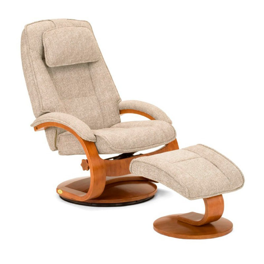 Amazon.com: Mac Motion Oslo Swivel Recliner with Ottoman in Tan and ...