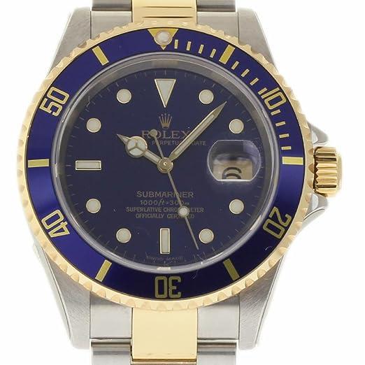 e54070679cb Rolex Submariner swiss-automatic Mens Reloj 16613 (Certificado) de segunda  mano  Rolex  Amazon.es  Relojes