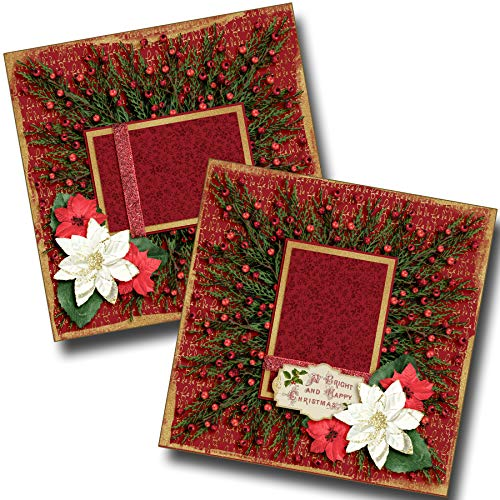 (Christmas Wreath - Premade Scrapbook Pages - EZ Layout 3624)