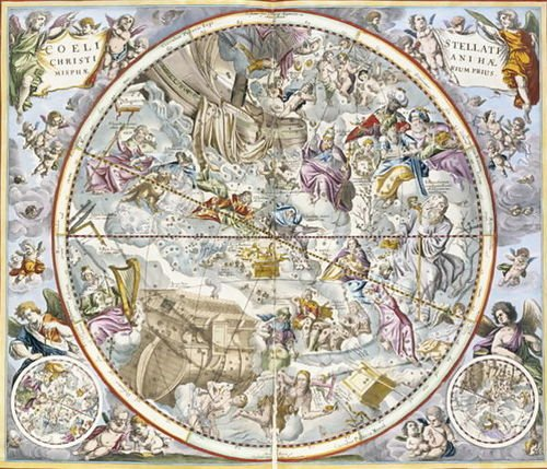 Andreas Cellarius Map of the Christian Constellations as Depicted by Julius S... by 1st Art Gallery