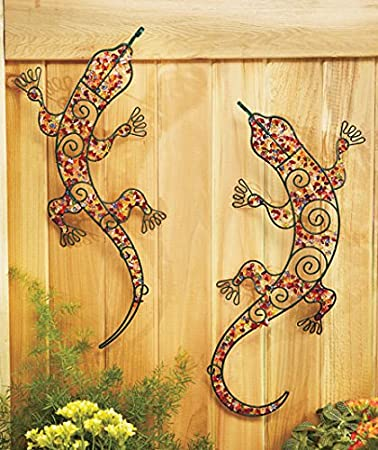 Amazon.com : Set of 2 Gecko Beaded Garden Wall Decoration : Baby