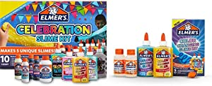 Elmer'S Celebration Slime Kit | Slime Supplies Include Assorted Magical Liquid Slime Activators and Assorted Liquid Glues & Color Changing Slime Kit, 5 Piece Kit