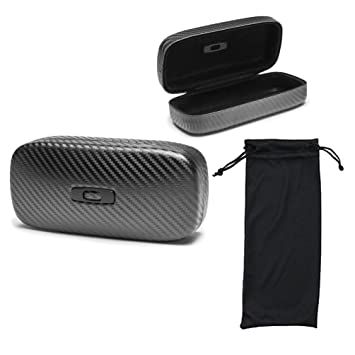 oakley sunglass bag  oakley square o hard sunglass case carbon fiber, with 1 soft sunglasses bag