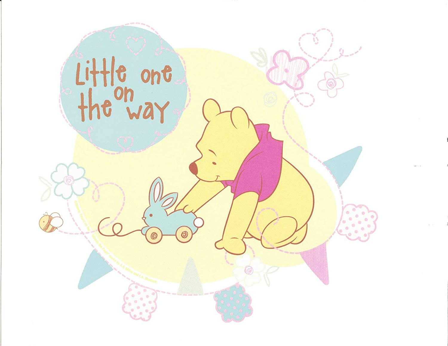 Winnie the Pooh Baby Shower Pink Blue Edible Cake Topper Image ABPID03314-1//4 sheet