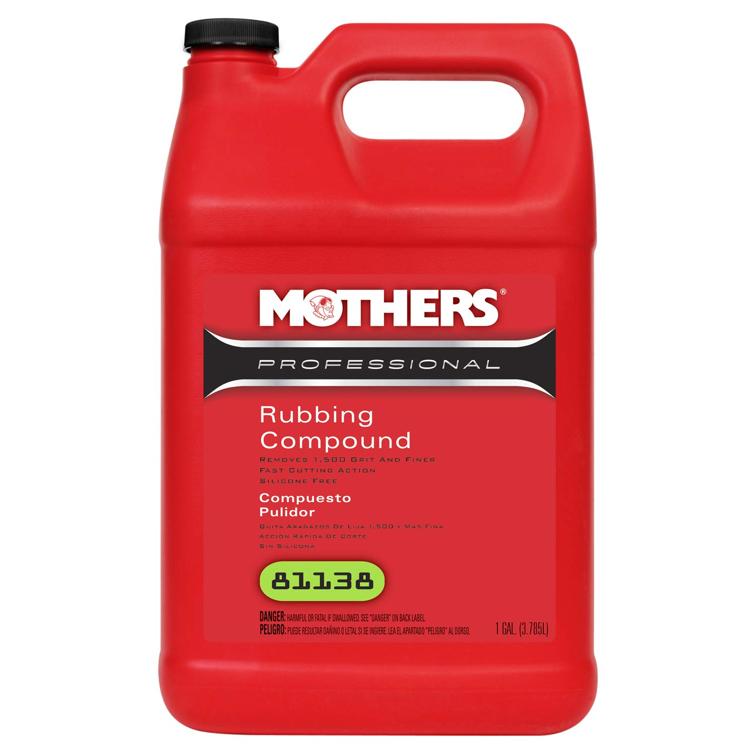 Mothers 81138 Professional Rubbing Compound - 1 Gallon