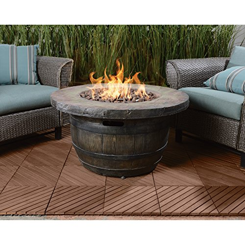 Amazon.com: Vineyard Propane Fire Pit   34.65in. Dia. X 18in.H: Garden U0026  Outdoor