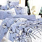 Blancho Bedding - [Pale Blue Lotus] Luxury 7PC Bed In A Bag Combo 300GSM (King Size)