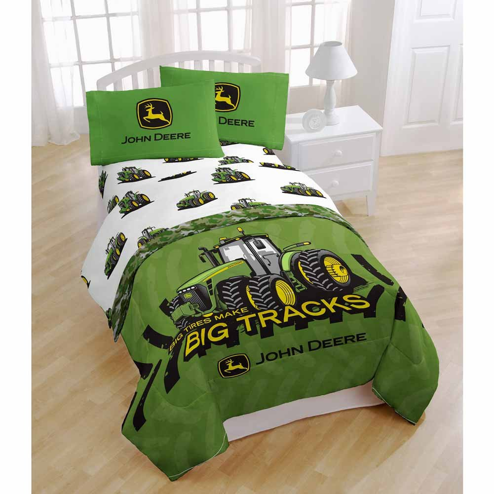 John Deere Kitchen Curtains Amazoncom John Deere Big Tracks 39 X 75 Twin Sheet Set Home