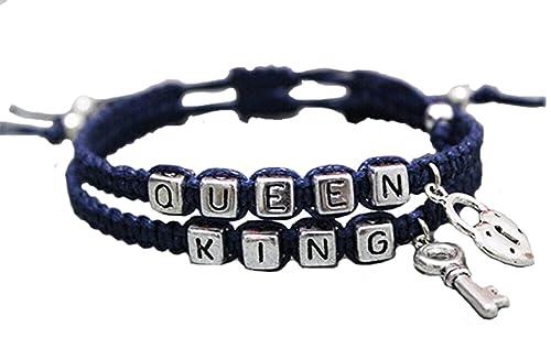Amazon Com Couples Bracelet King And Queen Bracelet Boyfriend