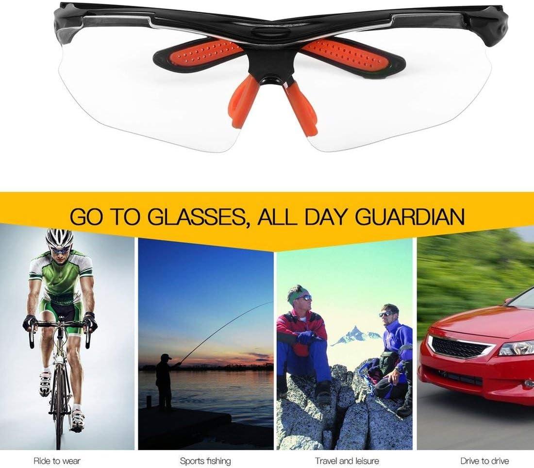 Formulaone Fahrrad Fahrradbrille Winddichte staubdichte Brille Outdoor Sportbrille Herren und Damen Mountainbike Schutzbrille-schwarzer Rahmen /& klare Linse