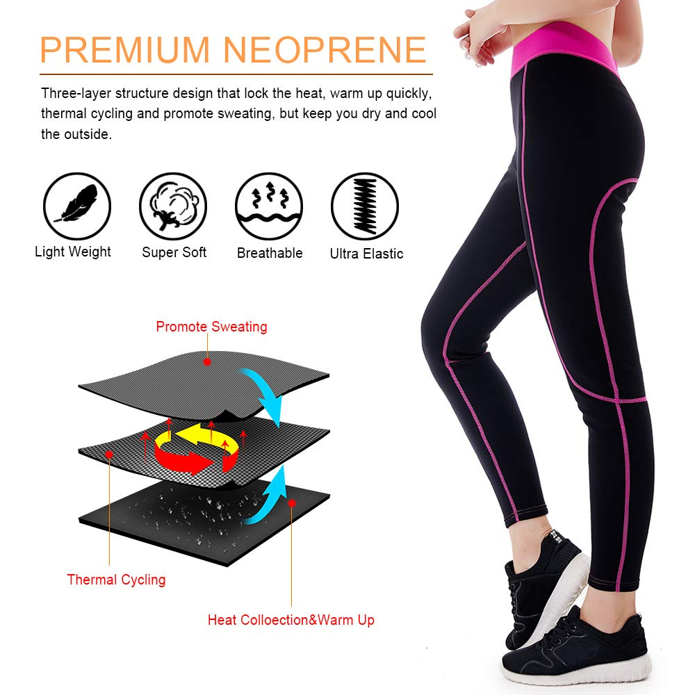 5eb4ac6f9a L&Sports Neoprene Sauna Pants Women - Neoprene Weight Loss Thermo Shapers,  Hot Sweat Body Shaper larger image