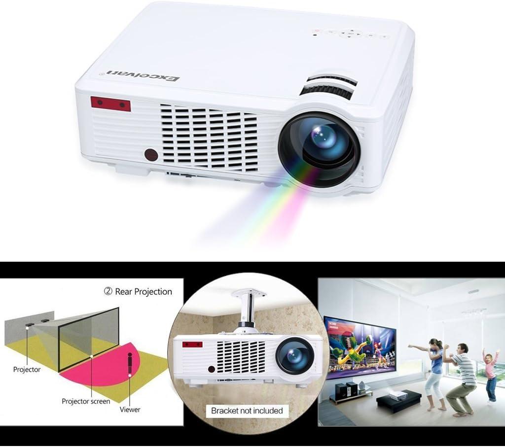 Excelvan LED 33-02 HD Proyector Home Cinema (2000 lúmenes ...