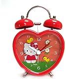 Hello Kitty - Despertador de 7.5 cm con forma de corazón, color rojo (United Labels 811296)