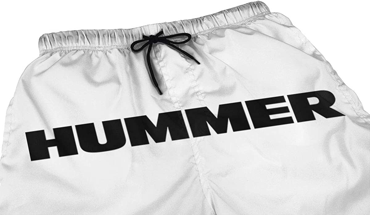 C-JOY Mens Beach Shorts Hummer H2 Car Quick Dry Swimming Pants
