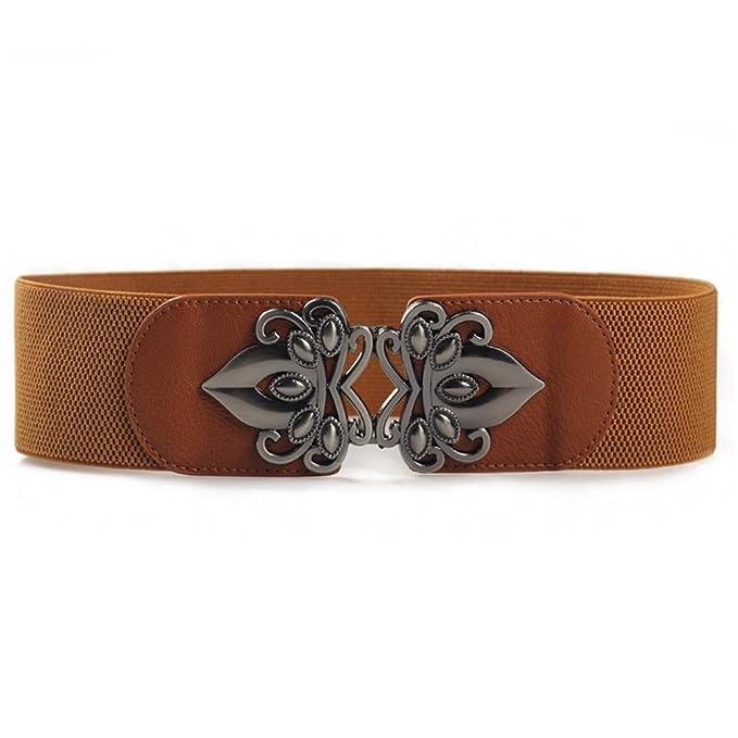 ishine cinturones de flores Moda Ancho Elástico Estiramiento Cuero  Artificial Cinturón para Vestir o Jean  Amazon.es  Ropa y accesorios 808f41f9e9