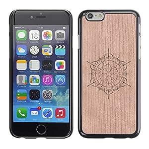 - Floral Pattern Clean Minimalist - - Funda Delgada Cubierta Case Cover de Madera FOR Apple iPhone 6 6S Plus 5.5 BullDog Case