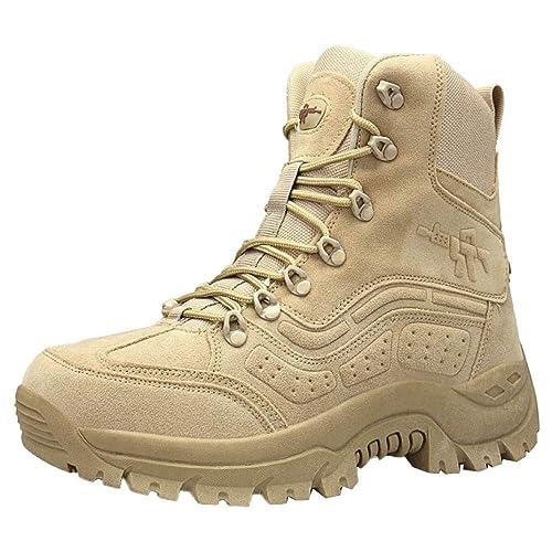 Amazon.com | Mens Boots Chelsea Outdoor Combat Boots ...