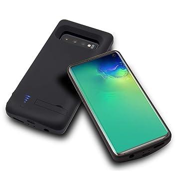 HQXHB Funda Batería para Samsung S10 Plus,6000mAh Funda Cargador Portatil Batería Externa Ultra Carcasa Batería Recargable Power Bank Case para ...