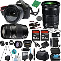 Canon EOS 5D Mark III Camera + 24-105mm STM + Tamron 70-300mm AF + 2pcs 16GB Memory + Case + Reader + Tripod + ZeeTech Starter Set + W/A + Tele + Flash + Battery + Charger
