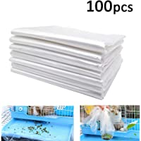 """Rabbit Cage Liners Disposable Large Plastic Mat Films for Bunny Guinea Pigs Chinchillas Rats Hamsters Hedgehogs and Other Small Animals 37""""×27"""""""