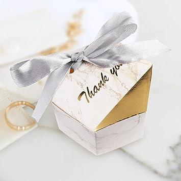 Amazon.com: OurWarm mármol boda cajas de caramelos 50 ...