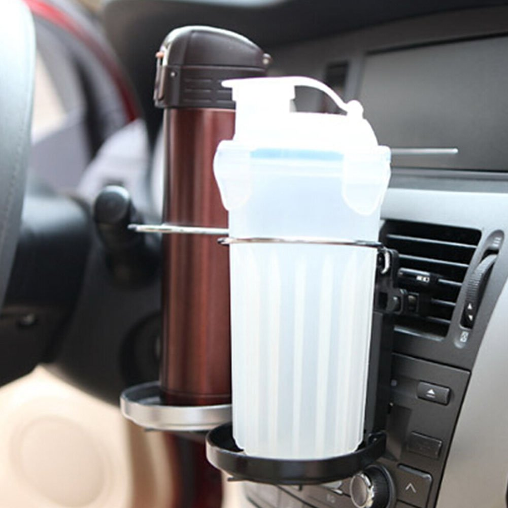 GEZICHTA Cup Holder, Portable Clip-on Car Truck Cup Holder Spring Wire Automobile Drinks Holder Water Bottle Can Folding Multi-function Car Accessories