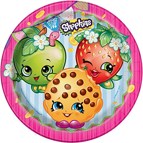 (Shopkins Dinner Plates, 8ct)