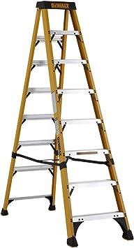 DeWalt DXL3410-08E escalera 8 peldaños gris de fibra de vidrio: Amazon.es: Bricolaje y herramientas