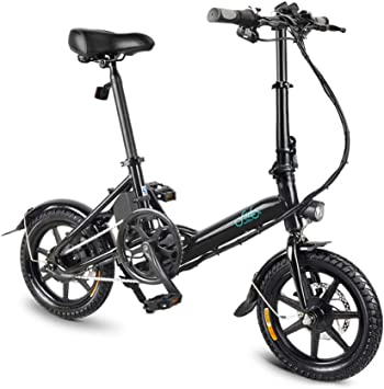 Lixada 14 Inch Folding Power Assist Electric Bicycle Moped E-Bike ...