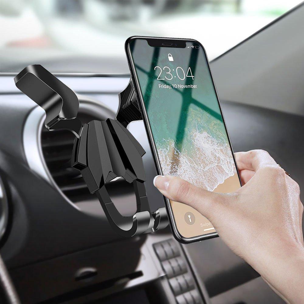 Porta Cellulare da Auto, Migimi Supporto Auto Smartphone 360 Gradi di Rotazione, Universale Auto Telefono Supporto per iPhone X 8 7 6 Plus, Samsung Galaxy Note 8 S9 S8 S7 Edge, Huawei/LG/Xiaomi ecc
